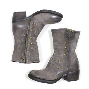 AS98 Calvin Military Leather Heeled Boot